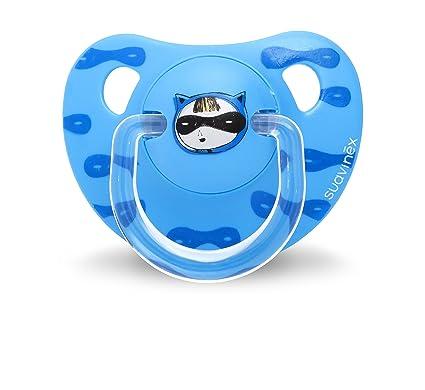 Suavinex 303283 - Chupete anatómico látex, 6-18 meses, color azul ...