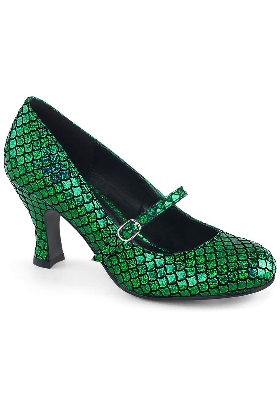 Women's Mermaid Green Low-Heel Pumps - DeluxeAdultCostumes.com