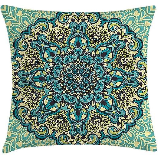 Funda de almohada para cojín étnico, diseño abstracto de ...