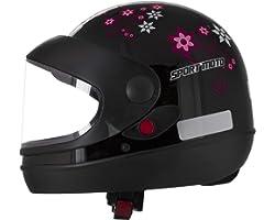Pro Tork Capacete Sport Moto For Girls 60 Preto