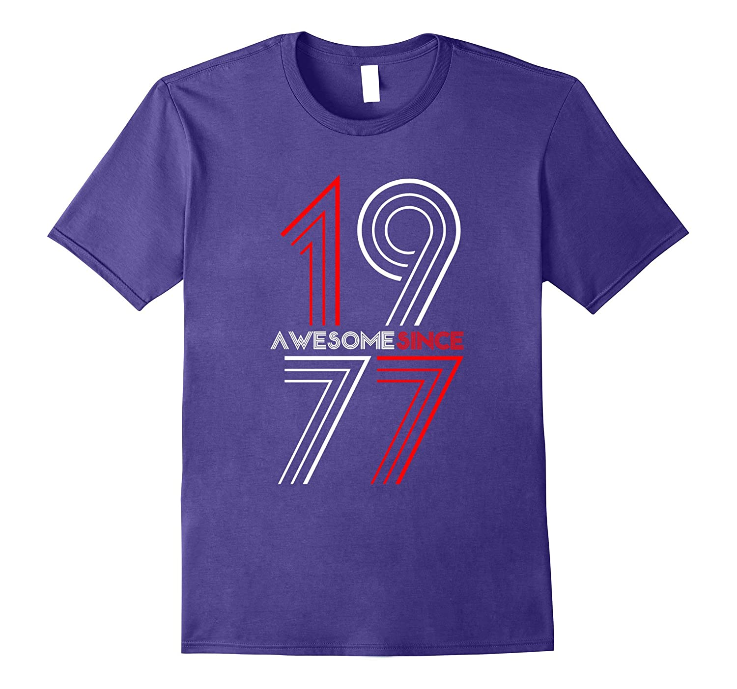 Awesome Since 1977 - 40 Years Old 40th Birthday Gift Tee-BN