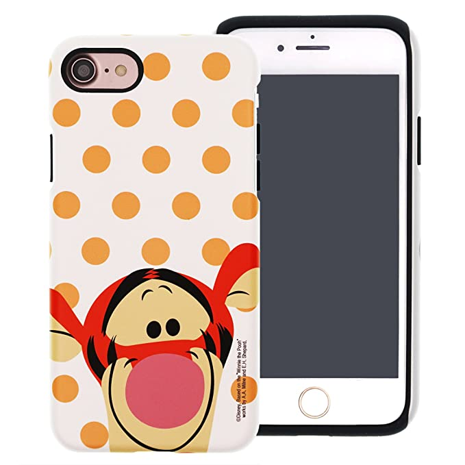 wholesale dealer f3dea 7713f iPhone 8 / iPhone 7 Case, Disney Cute Tigger Layered Hybrid [TPU + PC]  Bumper Cover [Shock Absorption] for iPhone8 / iPhone7 (4.7inch) - Dot Tigger