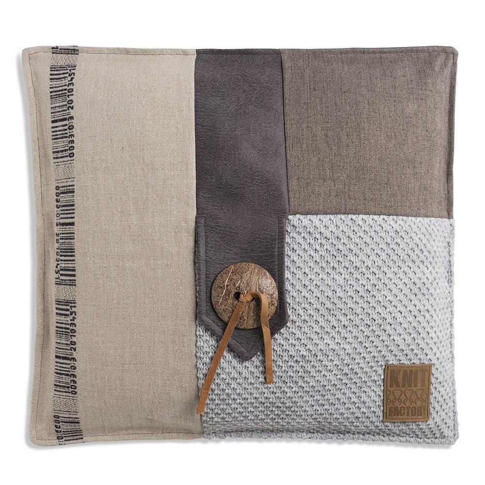 Knit Factory 1191211 Lex Kissen hellgrau Gr. 50x50 cm