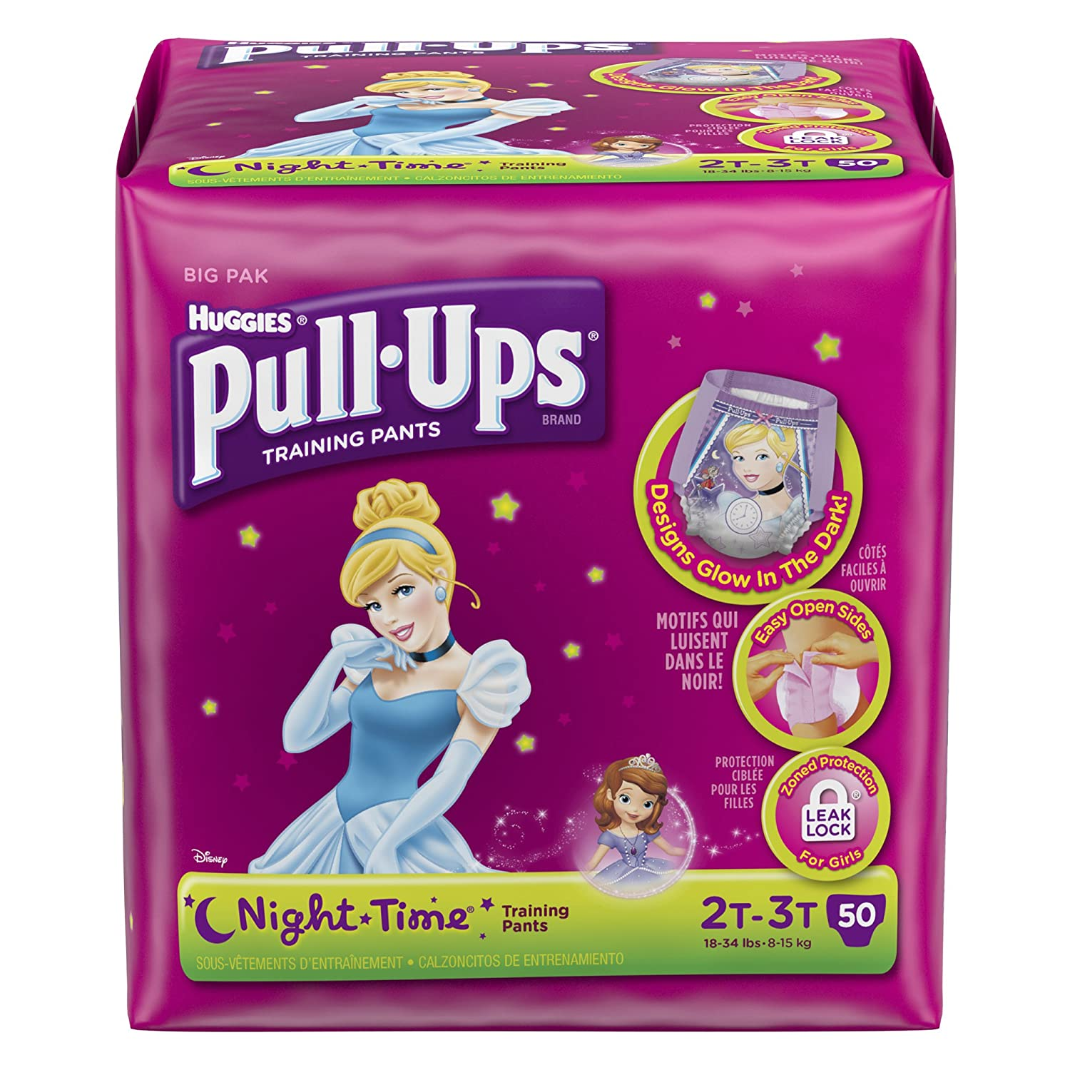 Amazon.com: Pull-Ups Night Time Training Pants for Girls, 2T-3T, 48 Count  (Pack of 2): Health & Personal Care