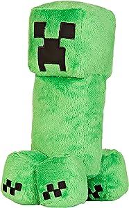 """JINX Minecraft Creeper Plush Stuffed Toy (Green, 10.5"""" Tall)"""