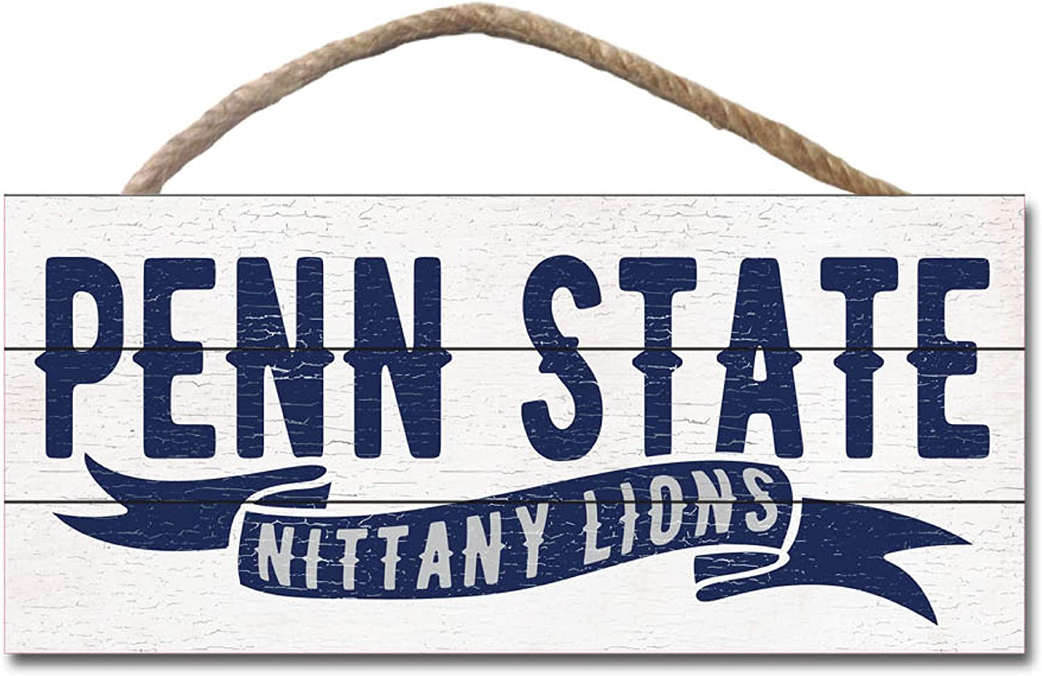 NCAA Fan Shop Penn State Nittany Lions Legacy Wood Plank Hanging Sign 10x5 One Size Wood