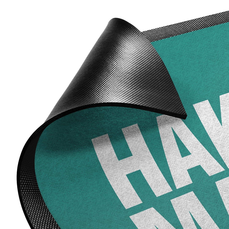 Bilderwelten Fußmatte - Hakuna Matata, Größe HxB    50cm x 70cm, Florfarbe  Anthrazit B07K8DR2B3 Fumatten c51ac6
