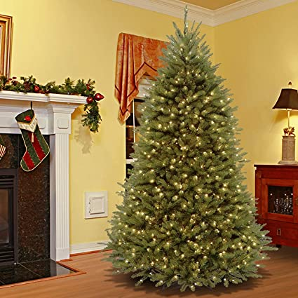 7.5' Pre-Lit Dunhill Fir Artificial Christmas Tree – Dual Color LED Lights - Amazon.com: 7.5' Pre-Lit Dunhill Fir Artificial Christmas Tree