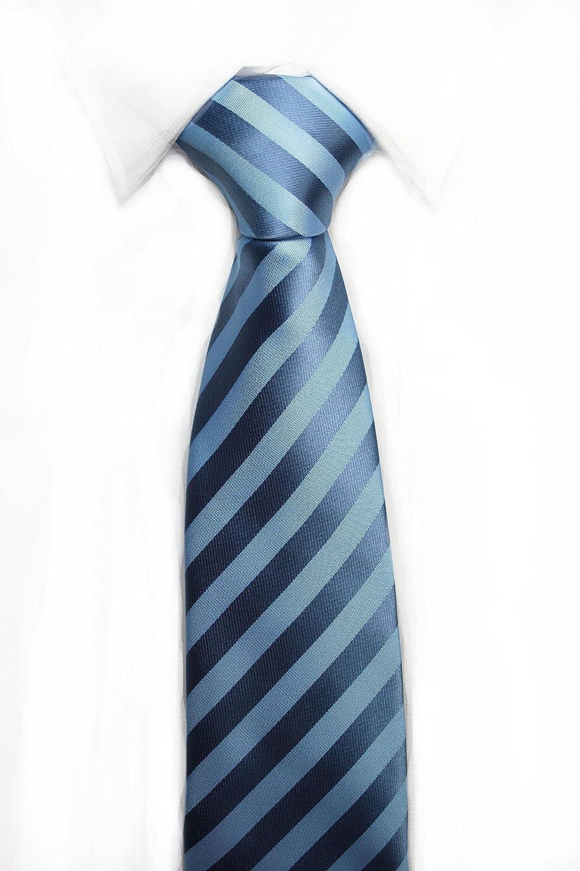 VIZENZO Corbata rayada azul elegante: Amazon.es: Ropa y accesorios