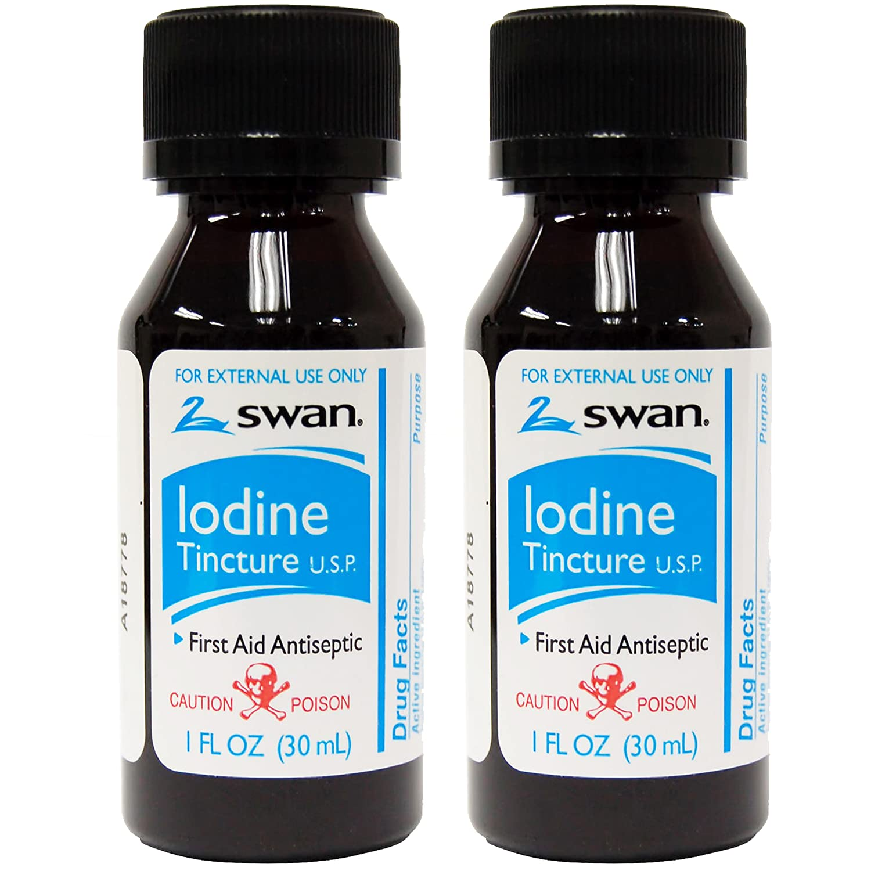 Amazon.com: Swan Iodine Tincture U.S.P. - 1 fl oz (2 pack): Health ...