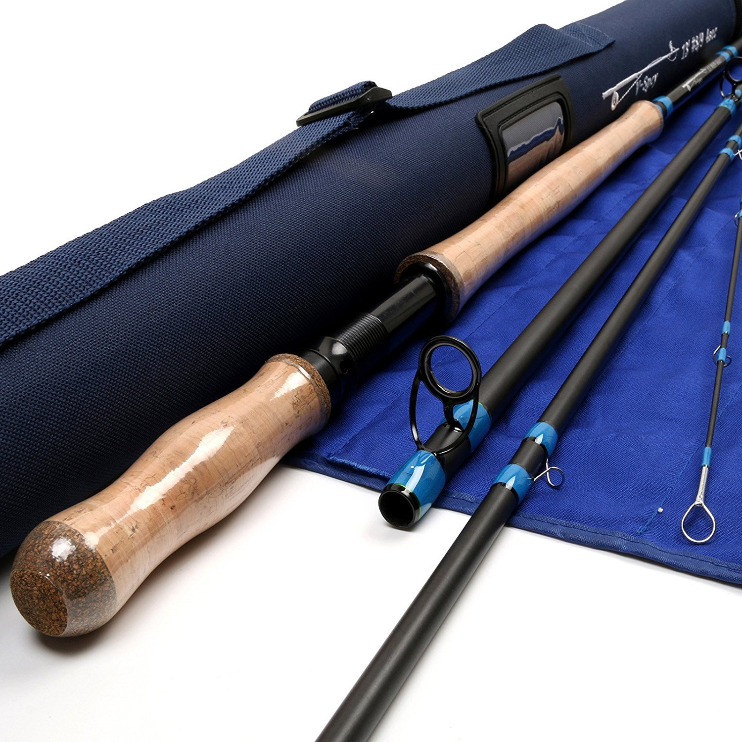 M MAXIMUMCATCH Maxcatch Spey Fly Rod 4-Piece Carbon Spey Rod Fly Fishing with Cordura Tube