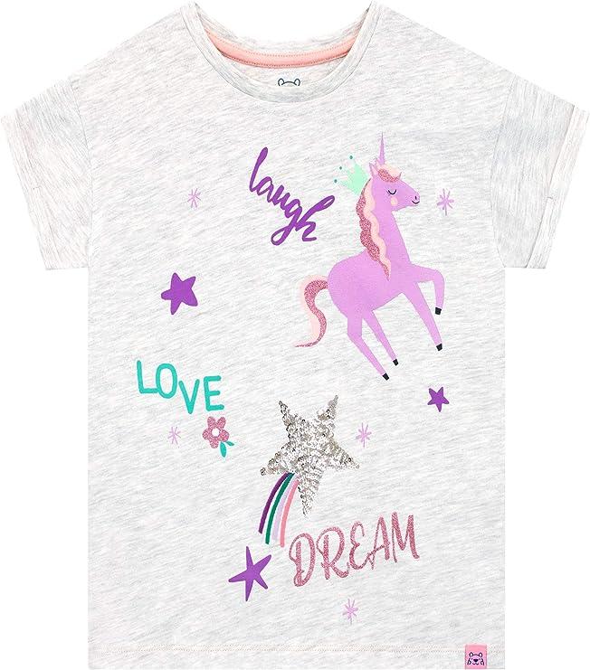 Harry Bear Camiseta de Manga Corta para niñas Unicornio