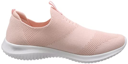 Amazon.com | Skechers Womens 12837 Slip on Trainers, Pink (Light Pink), 8 UK 41 EU | Fashion Sneakers