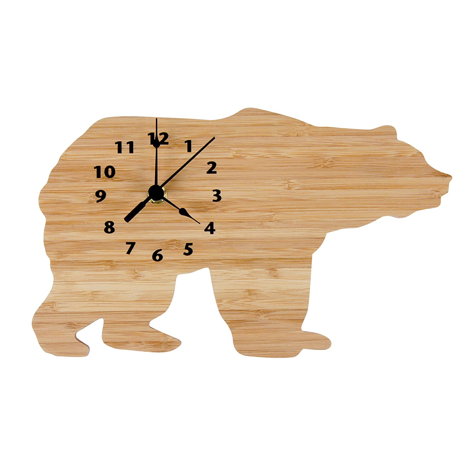 Trend Lab Wall Clock, Northwoods Bear 108184