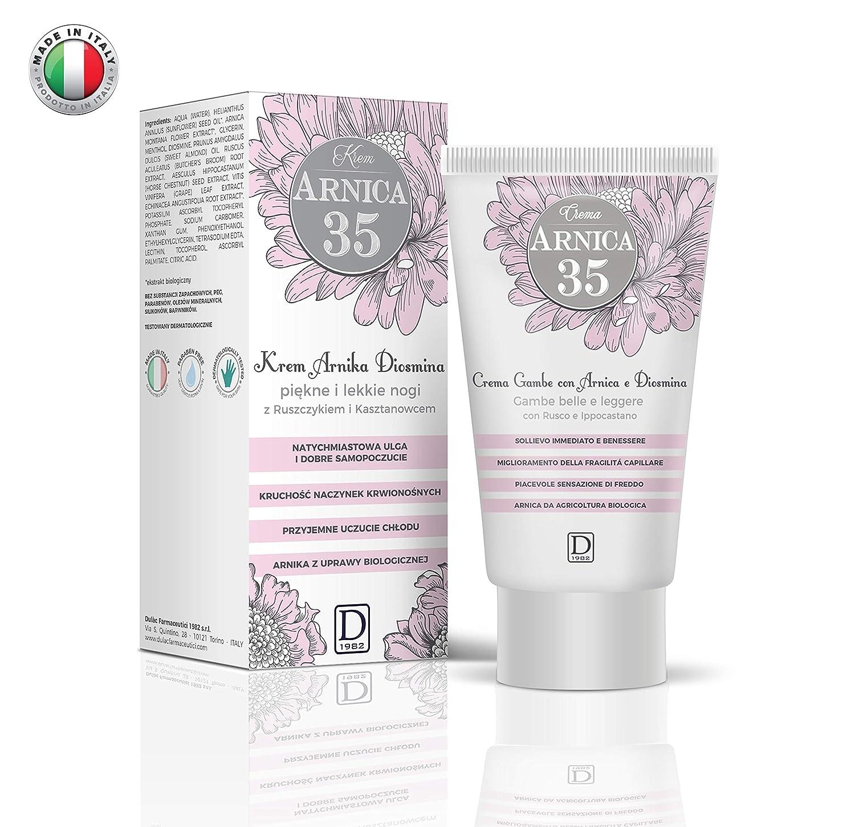 Arnica 35 - Crema para Piernas - Piernas bonitas y ligeras con Àrnica, Diosmina, Rusco y Castaño de Indias - 150 ml: Amazon.es: Belleza
