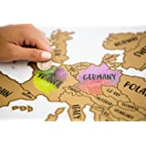 JetsetterMaps Scratch Your Travels Europe Region Map 16x20 in Poster