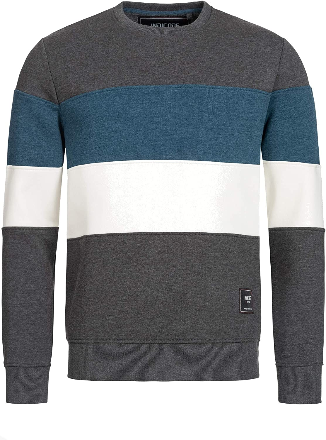 Warm Men/'S Sweater Modern Winter Pullover for Men Indicode Mens Gavel Sweatshirt with Ribbed Cuffs