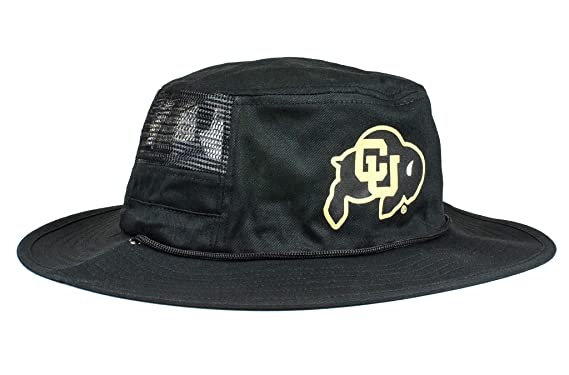 05adef74781 Amazon.com   Cowbucker NCAA Colorado Buffaloes Unisex boon001NCAA Mesh Boonie  Hat W Adjustable Chinstrap