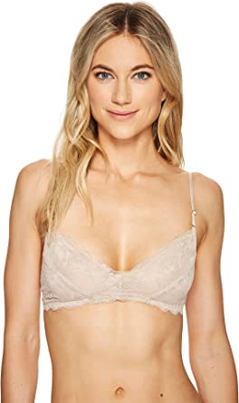 4fff2efd531 Coobie Women s Lace Bralette Nude Large at Amazon Women s Clothing store