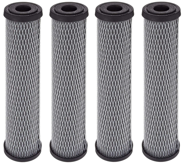 Pentek C1 Carbon Filter Cartridge, 9-3/4'' x 2-1/2'', 5 Micron (1, 4-Pack) by Pentek