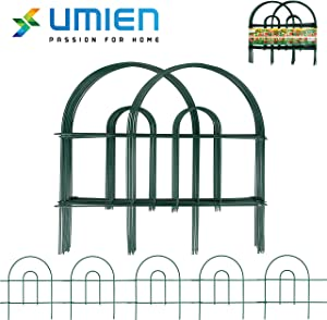 UMIEN Decorative Garden Fence 37-Pack - 58.6 Ft Long 18 in High Rustproof Iron Garden Fencing, Animal Barrier, Wire Fence for Yard, Garden Border Edging Flower Fence, Outdoor Fences for Landscaping