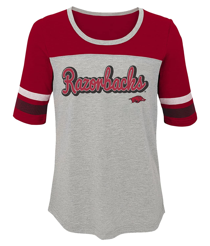 NCAA by Outerstuff NCAA Arkansas Razorbacks Youth Girls Fan-Tastic Short Sleeve Tee 14 Cardinal Youth Large
