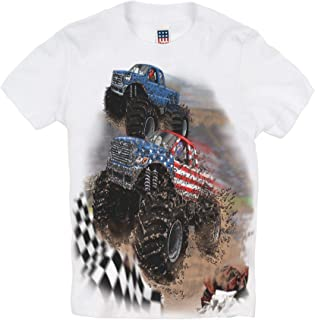 product image for Shirts That Go Little Boys' Go USA Monster Trucks Racing T-Shirt