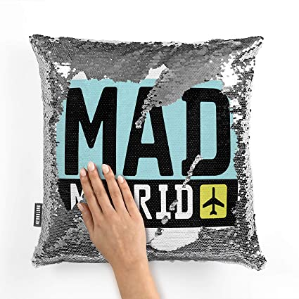 Amazon.com: NEONBLOND Mermaid Pillow Cover Airport Code MAD ...