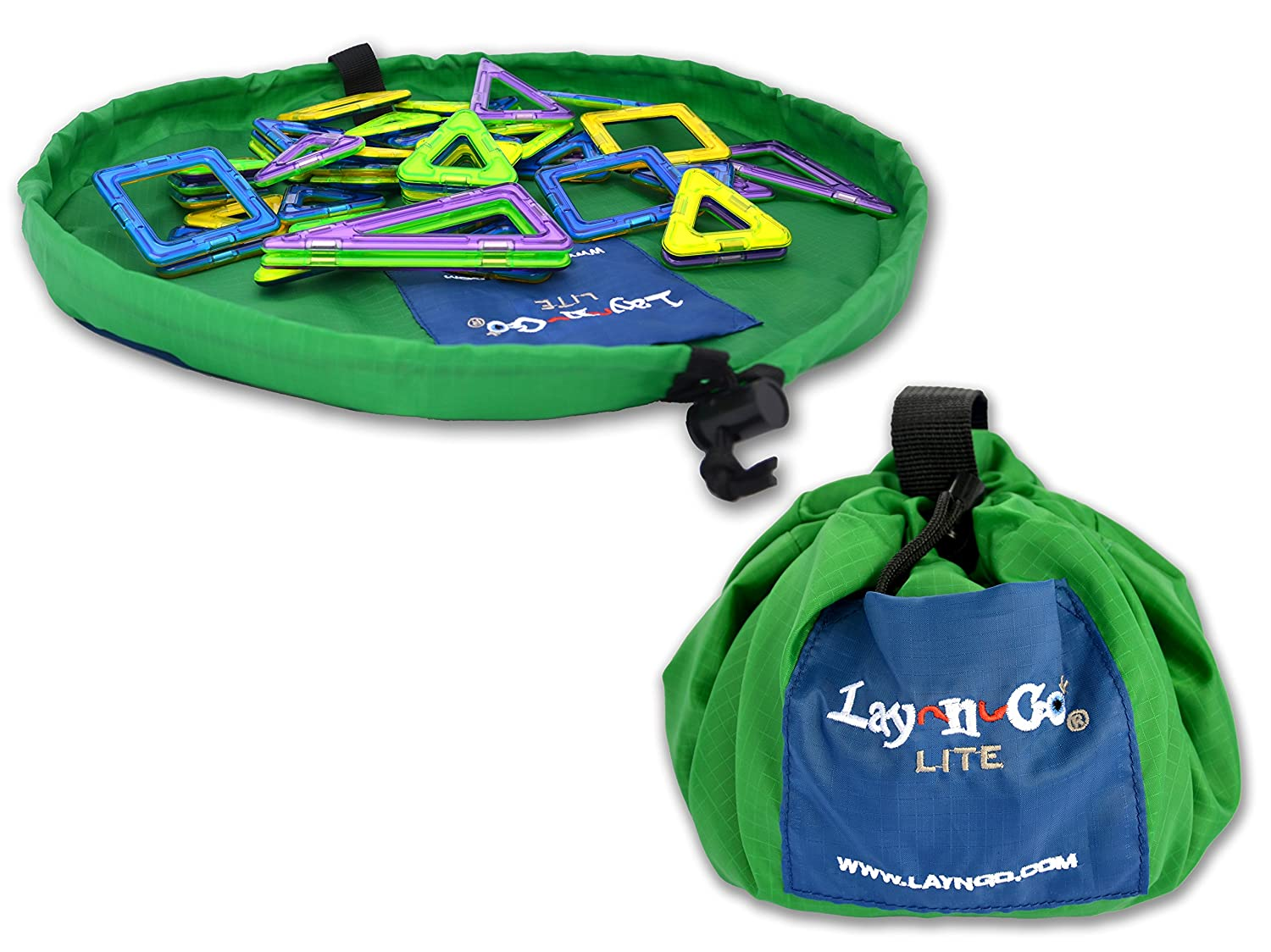 Lay-N-Go Lite Travel/Mini Activity Mat, Green LNG305