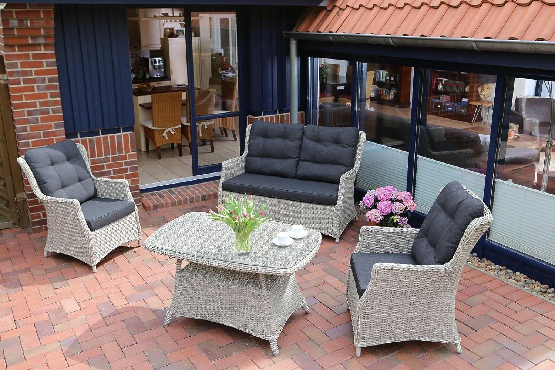 4 tlg lounge set casa mit kissen g nstig online kaufen. Black Bedroom Furniture Sets. Home Design Ideas