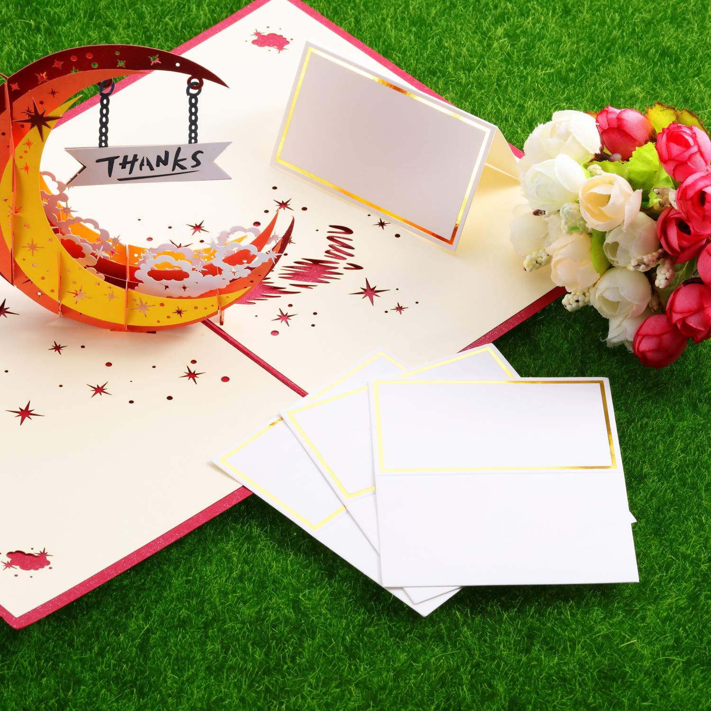 2 x 3,4 Pouces D/îner F/ête et Festival Or Banquets Cartes de Place Cartes de Noms de Table Cartes de Place pour Mariage