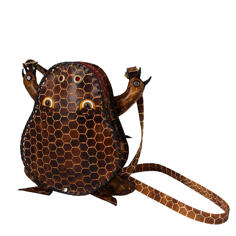 Novica Leather sling, Brown Frog