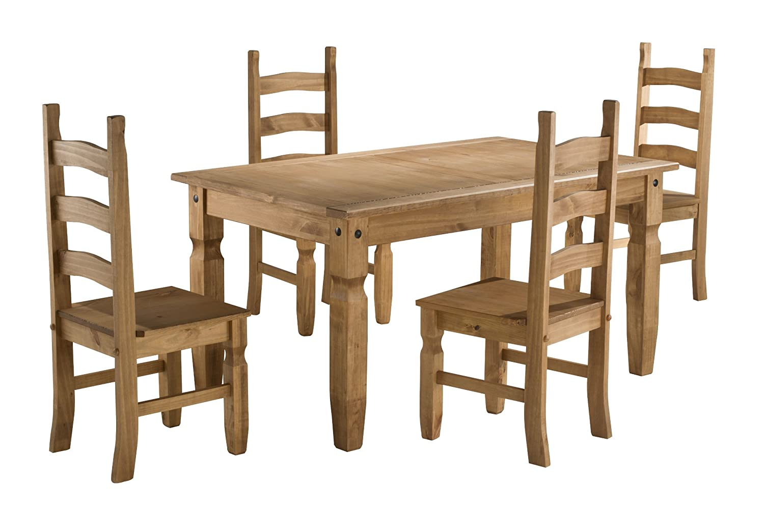 Birlea Corona 5ft Dining Set (Table U0026 4 Chairs), Waxed Pine: Amazon.co.uk:  Kitchen U0026 Home