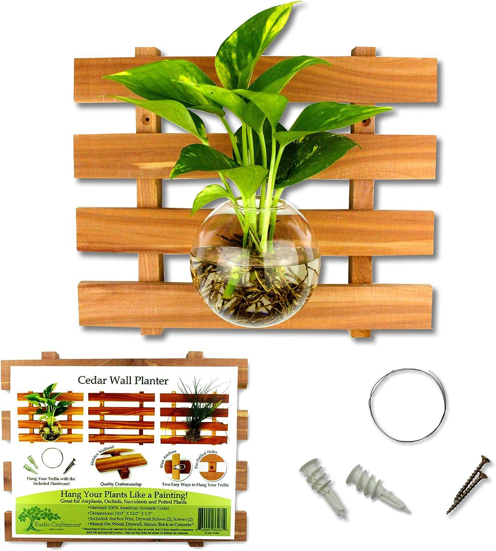 Rustic Craftsman Cedar Wood Wall Planter 12