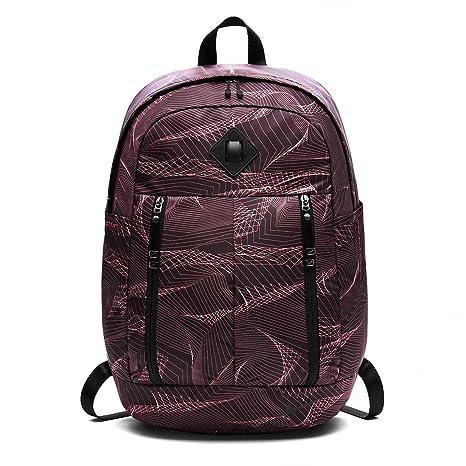 143f528be8 Nike Unisex's W Nk Aura Bkpk Aop Backpack, Port Wine/Black/Red Stardust,  One Size: Amazon.co.uk: Sports & Outdoors