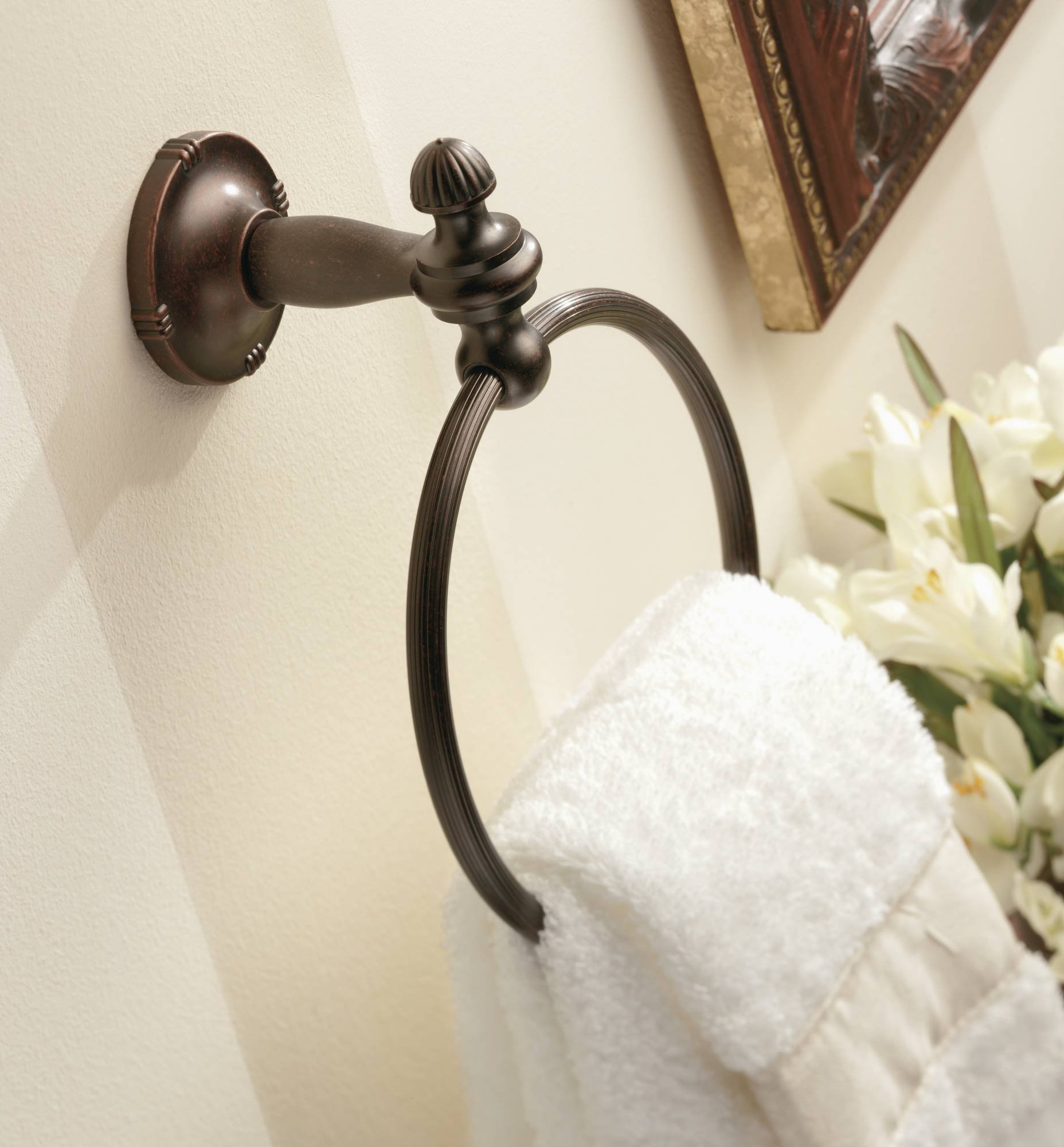 Moen DN0886ORB Gilcrest Towel Ring, Oil Rubbed Bronze