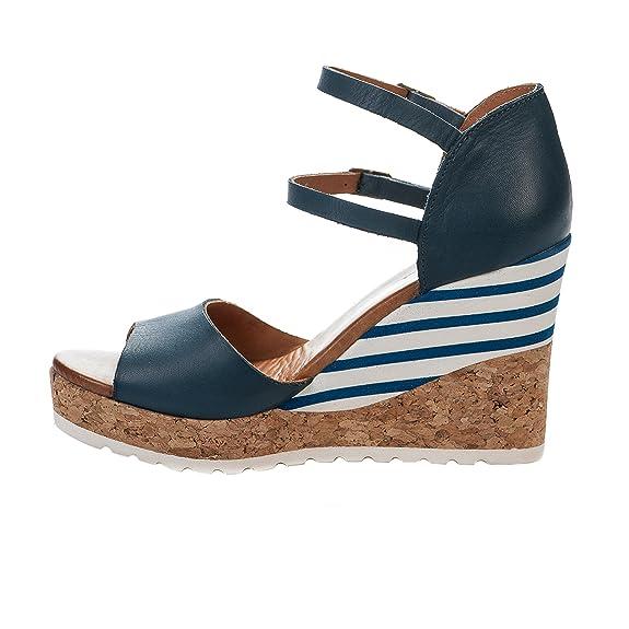 27ff80a6813 Nu pieds femme - APPLE OF EDEN - Bleu marine - ANISIA 8 - Millim   Amazon.fr  Chaussures et Sacs
