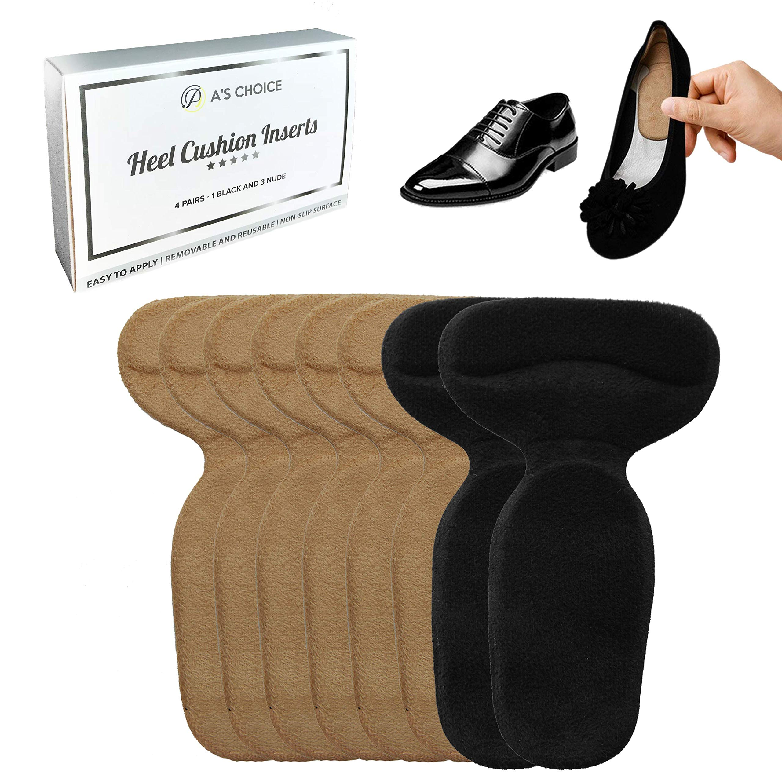Heel Inserts for Loose Shoes - Shoe Pads, Filler For Too Big Shoes- Men & Women