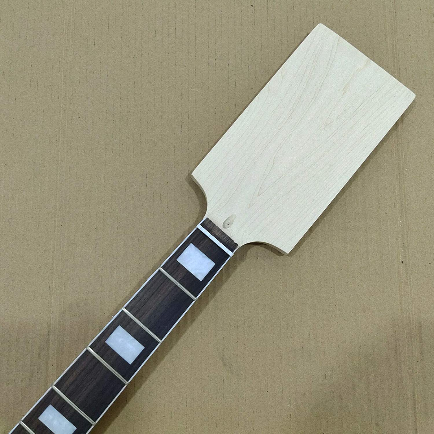 Unfinished Paddle Head Canadian Maple 20 Fret 4 String PB Bass Guitar Neck Replacement