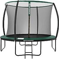 SONGMICS tuintrampoline, 10 ft ronde trampoline met veiligheidsnet, ladder, gewatteerde boogstokken, TÜV Rheinland…