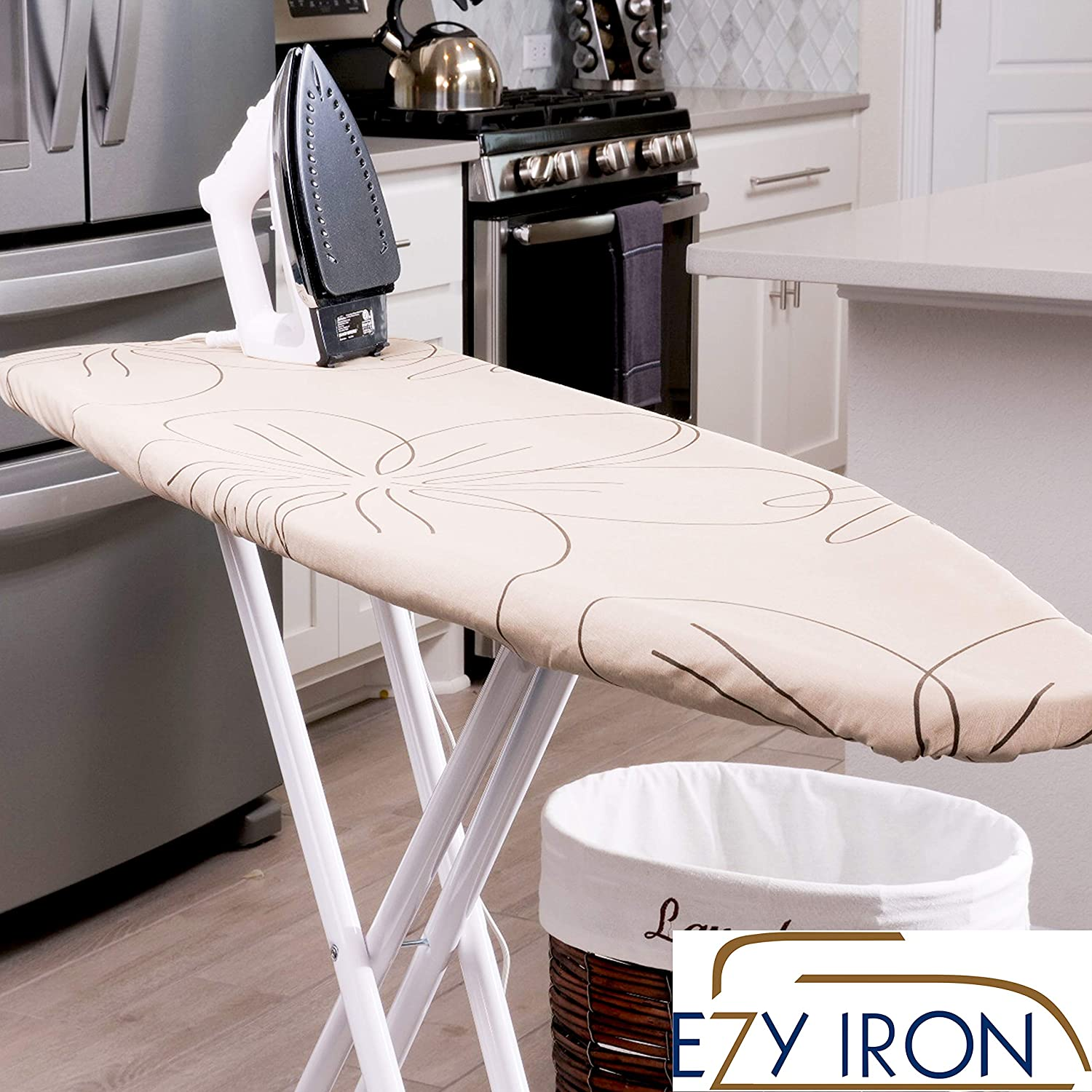 Ezy Iron Padded Ironing Board Cover Thick Padding