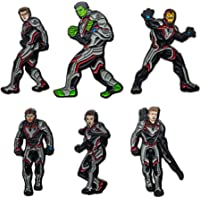 Marvel Jewelry Unisex Adult Avengers End Game 6 Character Pack Pin, Red/Grey/Black, One Size