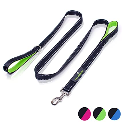 f363e3b2890a Paw Lifestyles Heavy Duty Dog Leash - 2 Handles - Padded Traffic Handle for  Extra Control, 7ft Long - Perfect Leashes for Medium to Large Dogs