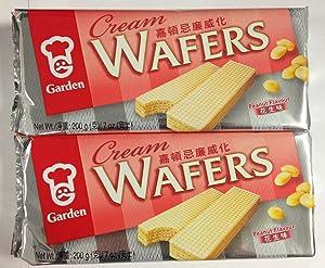 Garden Cream Wafers Peanut Flavor - 7 Oz (Pack of 2)