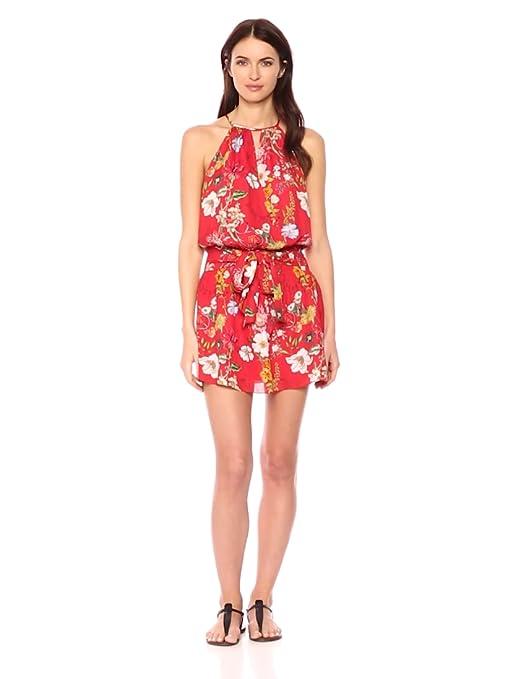 29f7ccee3514 Amazon.com: Parker Women's Larissa Sleeveless Printed Floral Silk Mini Dress:  Clothing