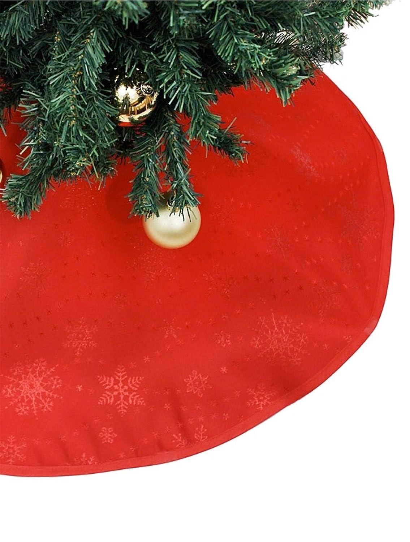 TK Gruppe Timo Klingler 1 Coperta per l' Albero di Natale, in Madreperla, Bianco, 120 cm di Diametro, Decorazione per Natale