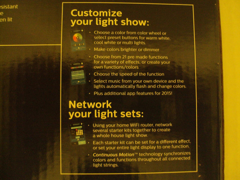 amazon com philips led illuminate 25 faceted c9 string light