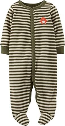 Carters Sleep Play Terry Snap Up Footie Sleeper Footed Outfit Girls Boys PJ 1 pc