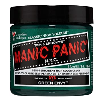 Amazon Com Manic Panic Green Envy Hair Dye Classic Chemical Hair Dyes Beauty