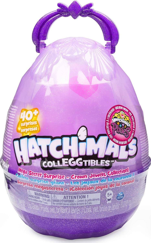 Hatchimals à Collectionner 6054261 Jouet enfant Maxi Œuf Surprise avec 10 Hatchimals à Collectionner, 1 Hatchimals Pixies et accessoires